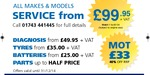 Prestige servicing from £99+VAT